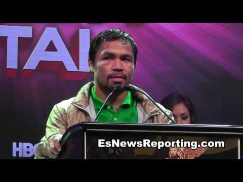 Manny Pacquiao after rios fight talks facing juan manuel Marquez Fight