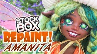 STOCK BOX Repaint! Amanita Mushroom Fairy OOAK Custom Doll