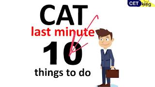 10 important Last day strategies for CAT 2017