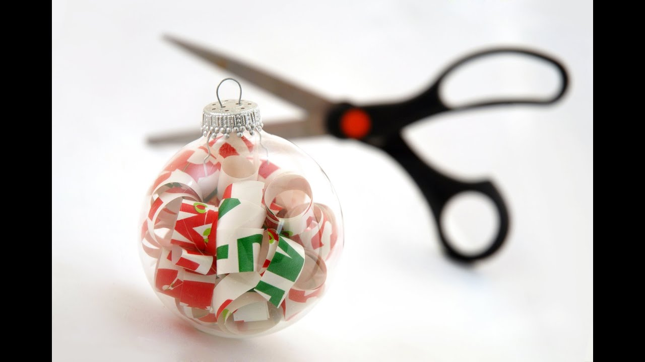 How to make Christmas Tree ornaments out of scrapbooking
