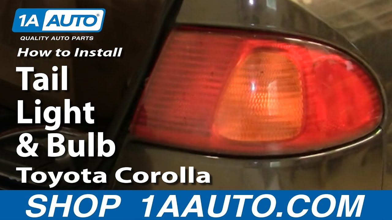 How To Install Replace Tail Light And Bulb Toyota Corolla