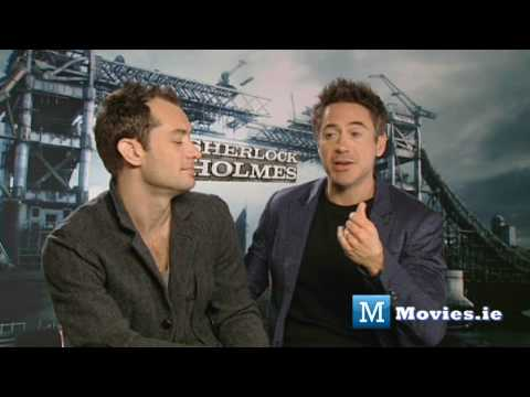 Robert Downey JR & Jude Law on the relationship between SHERLOCK HOLMES & WATSON (Game of shadows)