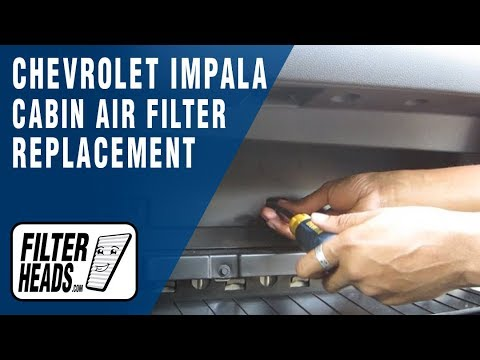 Cabin air filter replacement - Chevrolet Impala