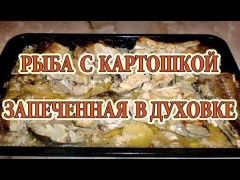Как запечь рыбу с картошкой - видео