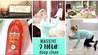 MASSIVE ALL DAY CLEAN BEFORE HOLIDAYS | INTENSE DEEP CLEAN WHOLE HOUSE | EXTREME CLEANING MOTIVATION
