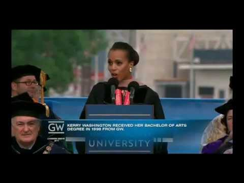 Kerry Washington Keynote Speech at GWU 2013 Commencement Ceremony 05/19/13