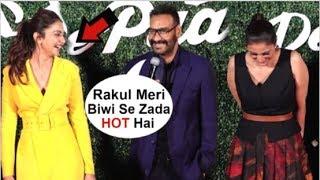 Ajay Devgan Openly FLIRTS With Rakul Preet In Front Of Media De De Pyaar De Trailer Launch
