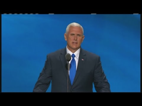 FULL VIDEO: Mike Pence accepts Republican nomination for vice president