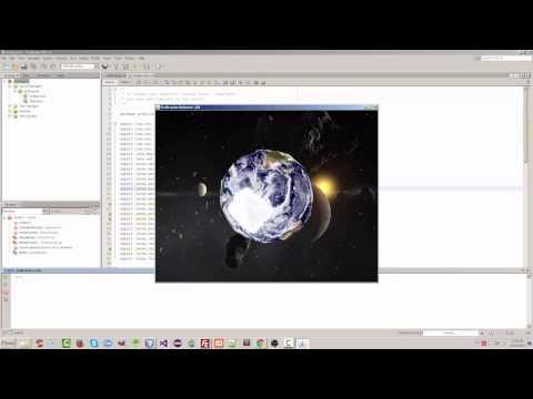 Ejemplo básico de Java 3D - Universo / Planeta