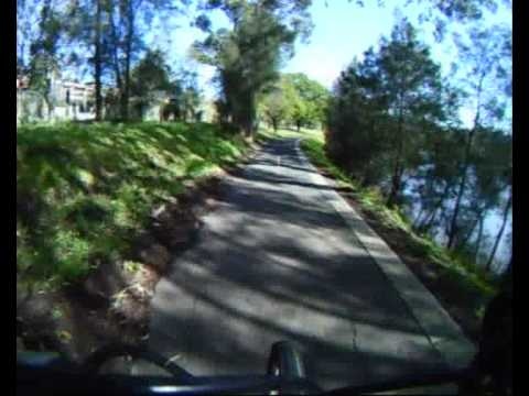 Yarra river bike trail Melbourne timelapse (1.5 hours in 8.5 mins)