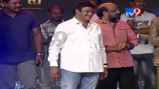 Balakrishna presents memento to Jagapathi Babu at Aravinda Sametha Success Meet