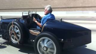 Jay Leno in a Bugatti Type 51 on the 405.