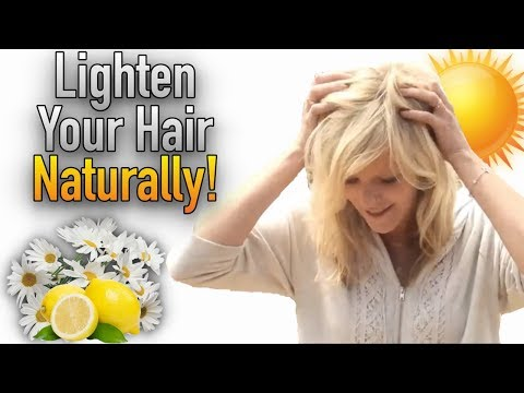 How to Naturally Lighten Hair (Damage Free!)   Morrocco Method
