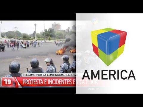 La policía reprimió con gas lacrimógeno y balas de goma una protesta en La Plata