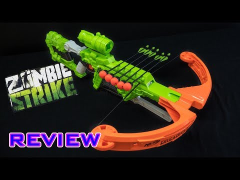 [REVIEW] Nerf Zombie Strike Dreadbolt   Unboxing. Review. & Firing Demo
