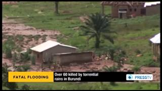 Torrential rains kill 60 in Burundi capital