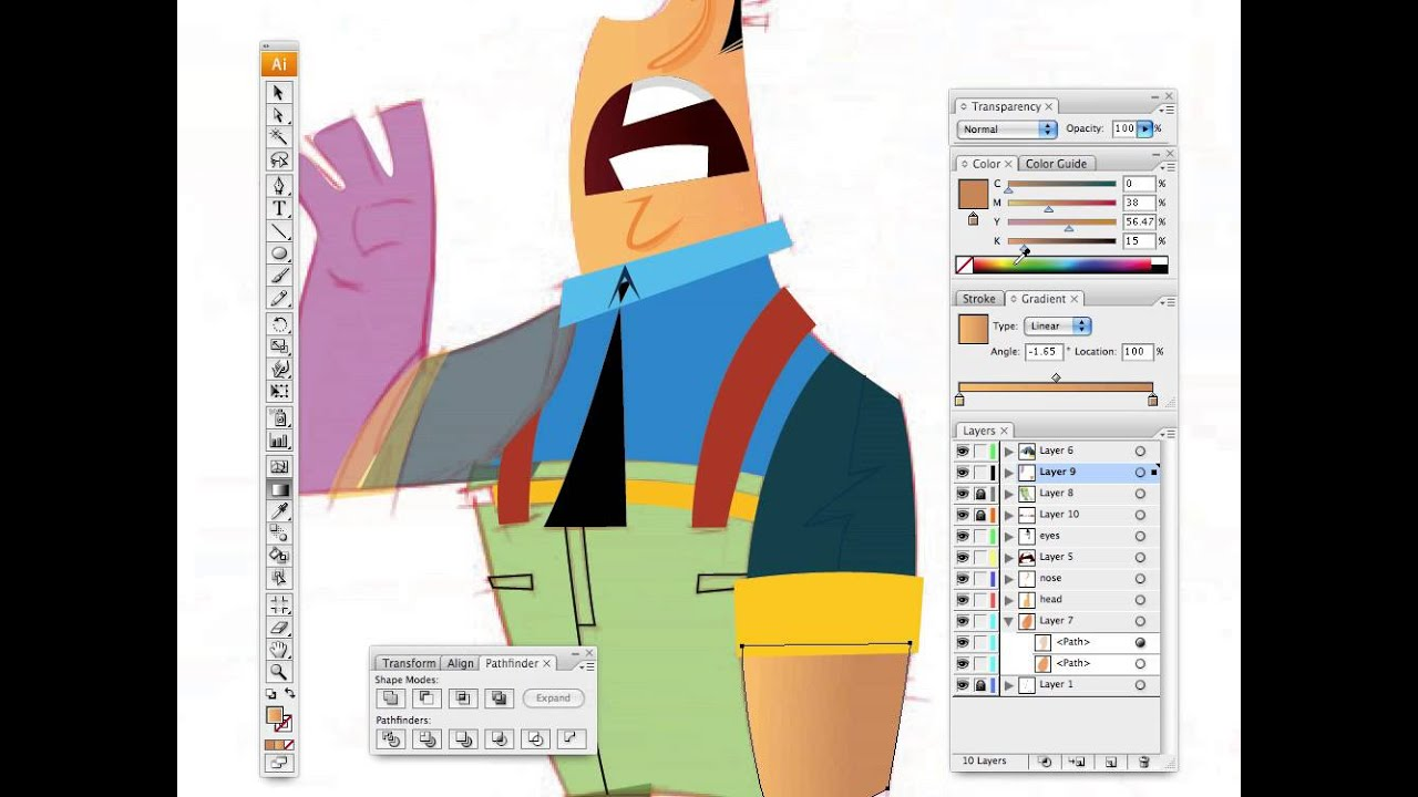 Illustrator Cs6 Character Design : Character design with illustrator part youtube