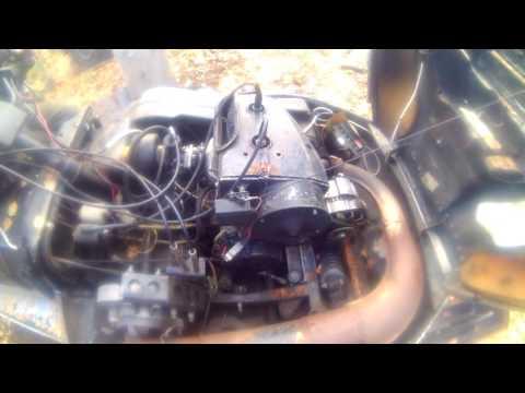 Работа двигателя на снегоходе рысь//Operation of the engine on a snowmobile a lynx