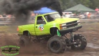 68 PSI BOOST DIESEL CUMMINS IN A CHEVY!!!   TURBO MUD TRUCK!!!   WOW!!!
