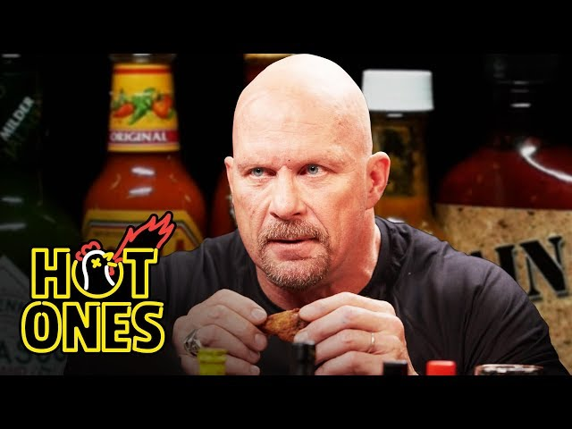 Stone Cold Steve Austin Puts the Stunner on Spicy Wings | Hot Ones thumbnail