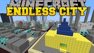 Minecraft: ENDLESS CITY MOD (SURVIVE IN A MASSIVE CITY!) Mod Showcase