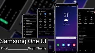 Samsung one UI V5 night. Samsung experience 10.0 UI | PIE Theme night.