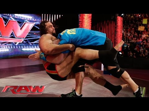 "Rusev And Lana ""honor"" The Career Of John Cena: Raw, February 9, 2015 video"