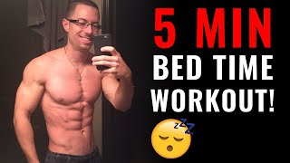 5 MINUTE BEDTIME WORKOUT ROUTINE (NO EQUIPMENT!) | Follow Along Home Workout with Tony Gonzalez