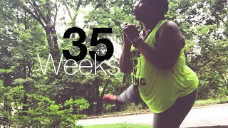 3MILE WALK & HAVING TO PEE! | 35 WEEKS