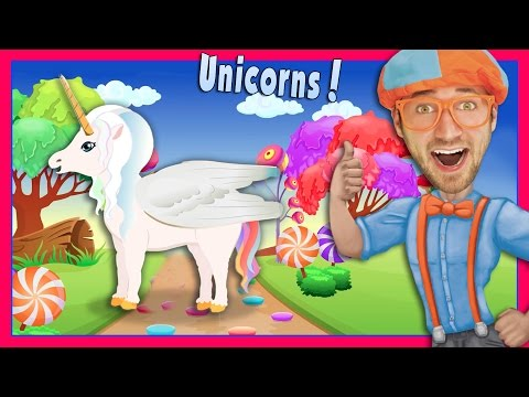 The Unicorn Song by Blippi | Nursery Rhyme Story