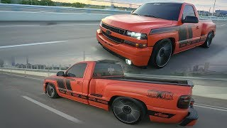 La Toxic from AZ to TX! 2000 Chevy Silverado with a 5/7 drop on DUBS!FAMOUS STREET TRUCK!