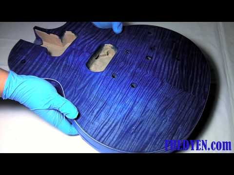 DIY Les Paul Guitar Kit (Part 2: Staining the Guitar)