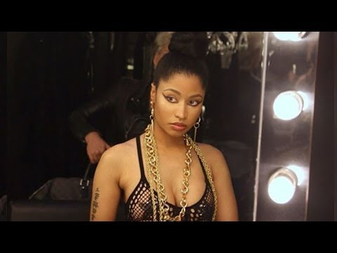 Nicki Minaj Real Hair & Nipple Pasties in New Song Music Video Shoot!