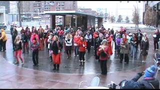 "Flash Mob: One Billion Rising in Denver, CO dancing to ""Break the Chain"""