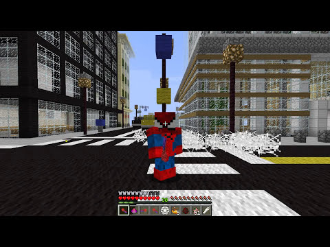Minecraft | SPIDERMAN!! (Web Slinging, Wall Climbing & More!) | Vanilla Mod Showcase