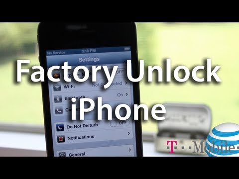 Factory Unlock iPhone 4/4S Free AT&T - T Mobile. GSM Carrier - Off Contract - Save Jailbreak