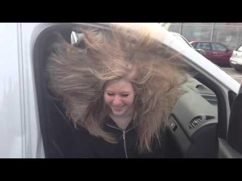 Subwoofer Hair Tricks. Blonde Girl Basshead Hair Trick.