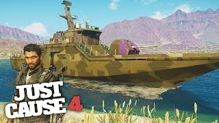 MOST POWERFUL SHIP IN JUST CAUSE 4! - Just Cause 4 Gameplay!