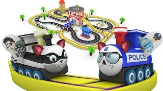 Police thief cartoon for children - Trains for children - Police car - choo choo train kids videos