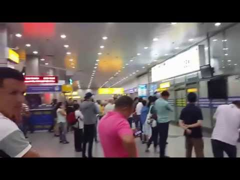 In the Airport  in Almaty (Kazakhstan)/I speak in English /Английский язык
