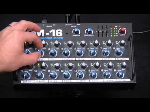 Audio Demonstration of Elite Core PM-16 Personal Monitor Mixer for Drummers and Percussionists