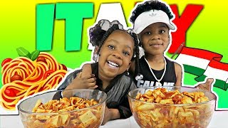My Crazy Kids TAKEOVER | AUTHENTIC Italian Pasta Mukbang |  Try Not To Laugh | FUNNY | KIDS | ASMR