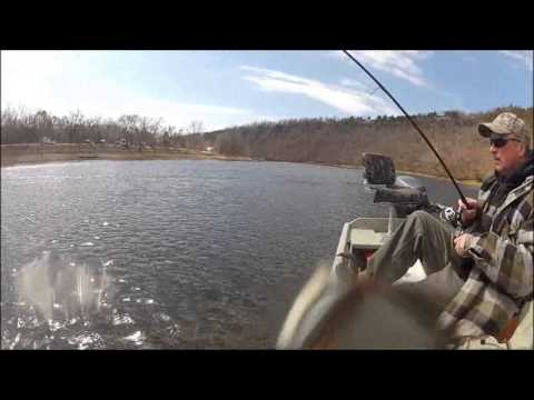 White River Fishing Bull Shoals Lake Boat Dock 2013