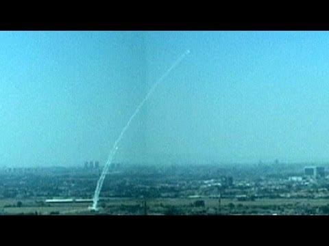 Lluvia de cohetes en Tel Aviv