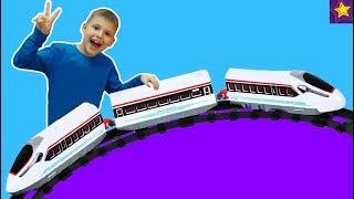 Какую ЖЕЛЕЗНУЮ ДОРОГУ купил Игорюша? Скоростные Поезда Видео для детей