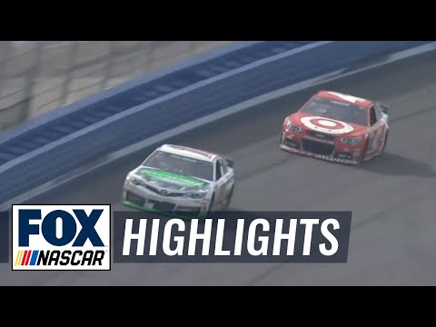 Kyle Busch Wins in Green-White-Checkered Finish - Fontana - 2014 NASCAR Sprint Cup
