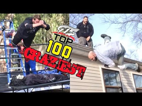 TOP 100 CRAZIEST MOMENTS IN YOUTUBE WRESTLING EVER!