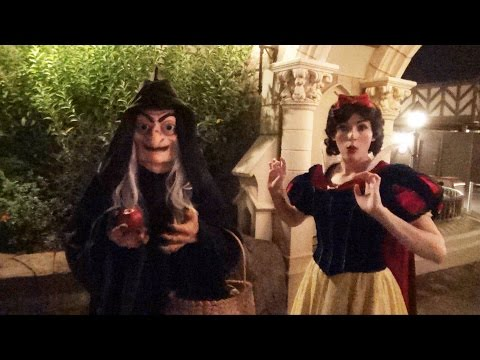 The Witch as Old Hag Offers Snow White an Apple at Mickey's Not-So-Scary Halloween Party
