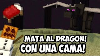 Increible forma de matar al Ender Dragon con una cama Minecraft pocket edition 0.17.x