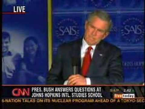 Bush can't answer an important question. Video